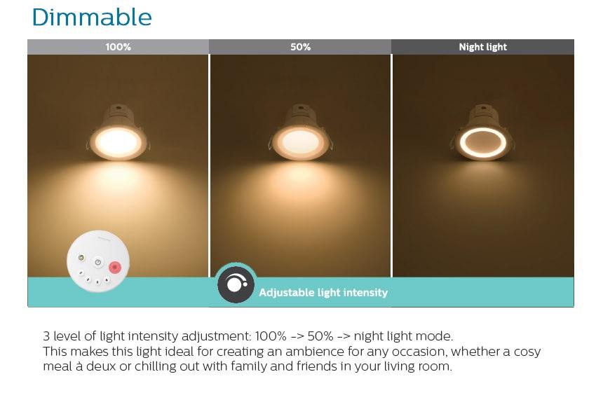 đèn downlight âm trần Led Smalu 59061 của Philips 9W