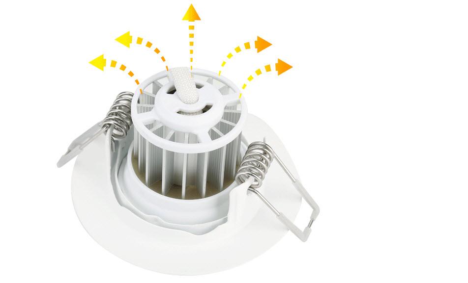 Đèn Downlight âm trần Led Philips Spotlight 41091 5W vật liệu cao cấp, khả năng tản nhiệt tuyệt vời mang đến tuổi thọ bền bỉ lên đến 20.000 giờ