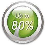 Tiết kiệm 80% năng lượng