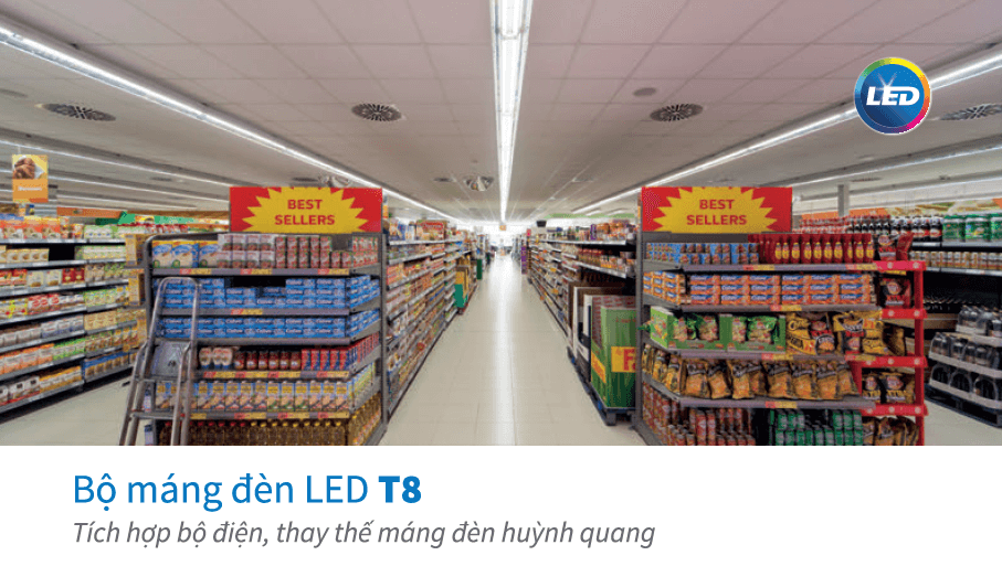 Bộ máng đèn LED Batten T8 Philips BN012C LED20/WW L1200 TH G2,  1.2m