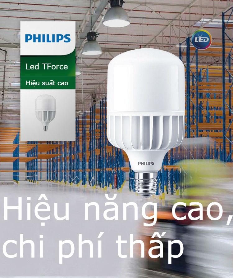 Bóng đèn Led trụ Philips TForce Core HB 48-50W E27 865 Hiệu năng cao, chi phí thấp