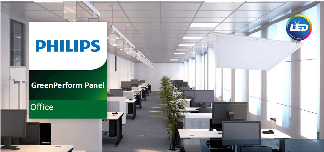 CTL60 - Máng đèn Led tấm âm trần Philips CertaFlux LED panel Green Office 600x600 40W/865 LV1 CTL19084A
