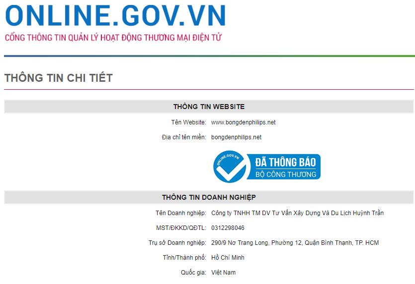 HUTRACO Huỳnh Trần đăng ký với bộ công thương