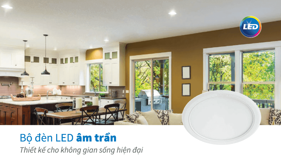Bộ đèn downlight âm trần LED Philips DN020B G2 LED6/WW 6W 220-240V D90 GM