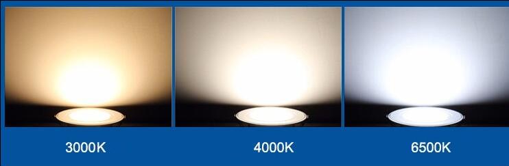 Đèn LED Panel Tròn Đổi màu – PT05 - Viền Vàng