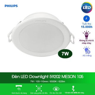 Đèn Downlight âm trần Led Philips Menson 59202 7W