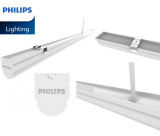Combo 10 Bộ máng đèn LED 0m6 T8 Philips 11W SmartBright Slim Batten BN012C LED10/CW L600
