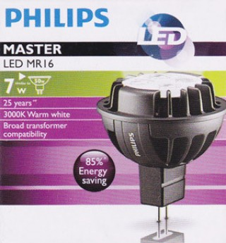 Bóng đèn Master Led Philips 7W-50W 2700/3000K MR16 36D Dim