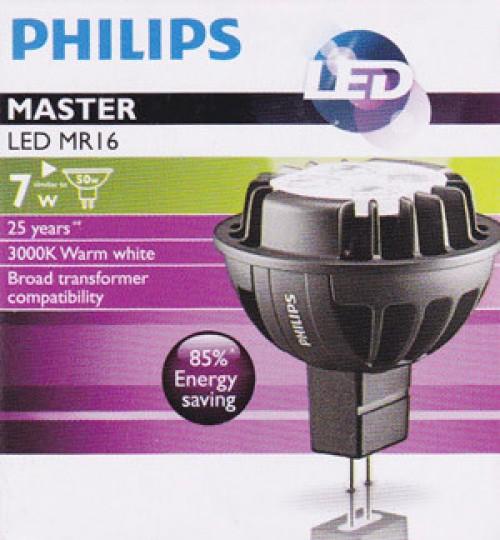 Bóng đèn Master Led Philips 7W-50W 2700/3000K MR16 36D Dim