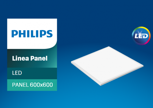 ✅Máng đèn Led tấm âm trần Philips CertaFlux LED panel Green Office 600x600 40W/865 LV1 CTL60