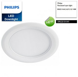 Đèn downlight âm trần LED Philips 14W MARCASITE 59523 Φ150 65K WH recessed