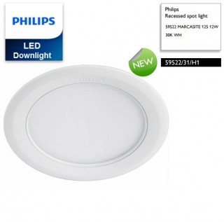 Đèn Downlight âm trần Led Philips MARCASITE 59522 12W Ø125