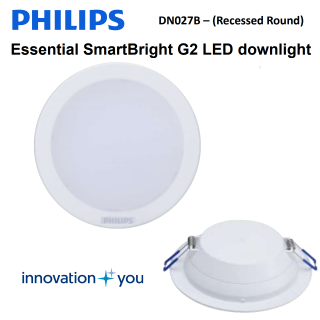 Đèn Led downlight âm trần Philips 15W - DN027B Led12 D150 1,200Lm/6500K