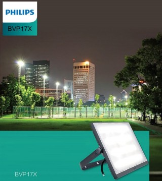 Đèn pha Led Philips Floodlight SmartBright BVP175 LED142/WW 150W WB GREY CE