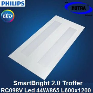 Máng đèn âm trần Led Panel Philips SmartBright 2.0 troffer RC093V LED52S/865 W60L120